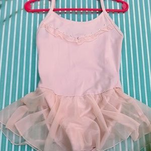 Freestyle by Danskin Pink Skirted Leotard w/ Bling